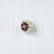 Дамски пръстен от опал, пустинен пясък и сребро